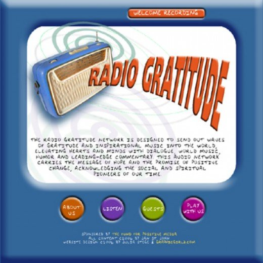 Website Design for Radio Gratitude by Graphic Girlz
