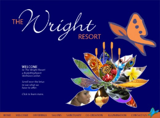 Website Design for The Wright Resort by Graphic Girlz