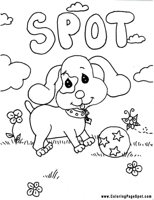 spot the dog coloring pages - photo#24
