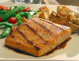 Nothing like fresh salmon that does not have a fishy taste and flakes perfectly.