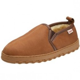 Tamarac by Slippers International Men's 8015 Bootie Slipper from Amazon.com  Soft deerskin leather is carefully stitched together and lined with faux shearling linings to ensure that you stay warm and cozy