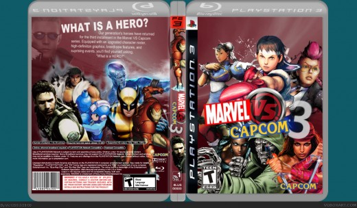 Marvel vs. Capcom 3 VG box art by Vic1239