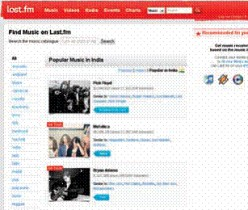 Websites for music, fun, news, system and blogging