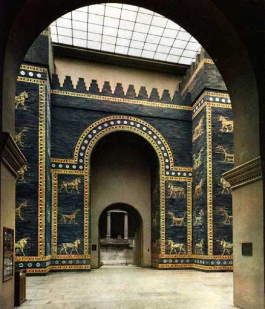 The Ishtar Gate was the main entrance to the city of Babylon