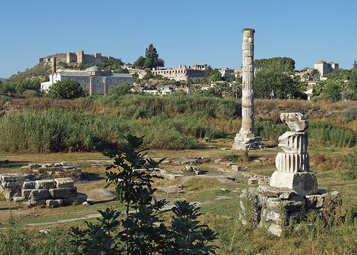 Temple of Artemis as can be seen today, in ruins