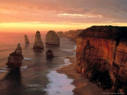 After hundreds of storms along the coast the twelve apostles have been reduced in number!