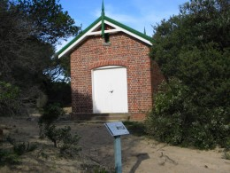 The original Rocket Shed used to help shipwrecked people to shore.