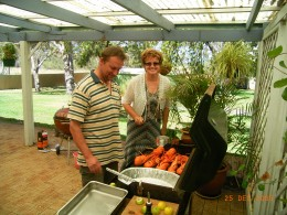 Our Boxing Day barbeque with friends