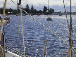 The Christmas morning on the Swan River