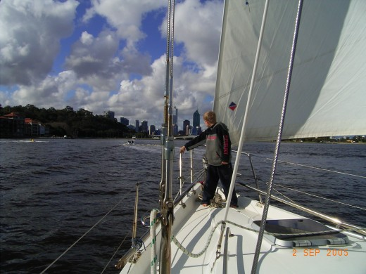 Sailing on the Swan River is a family custom now.