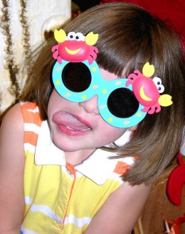 Funny faces make us laugh because we know, somewhere inside, that we can look equally funny. Kids especially love this type of humor.