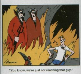 """Comics, such as Gary Larson's """"Far Side,"""" make us laugh because we see some element of ourselves or our loved ones in them."""