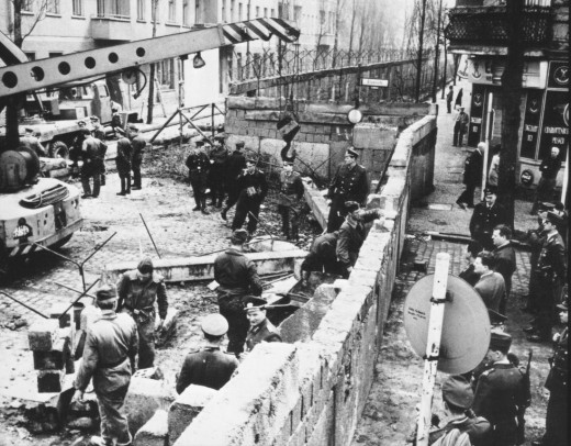 Berlin wall, during constuction in 1961