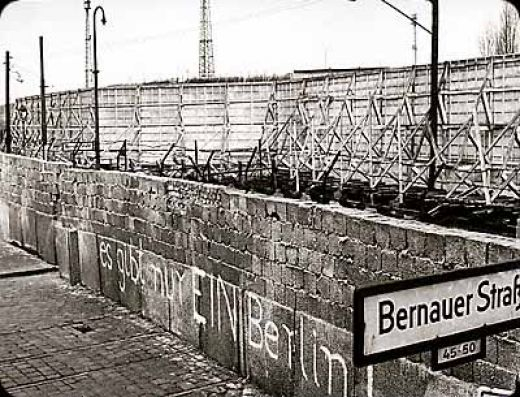 Berlin wall, after construction