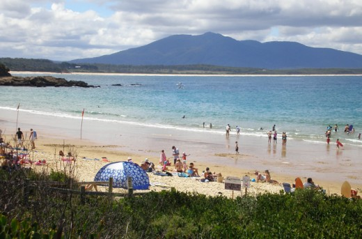 Bermagui has lovely swimming beaches.