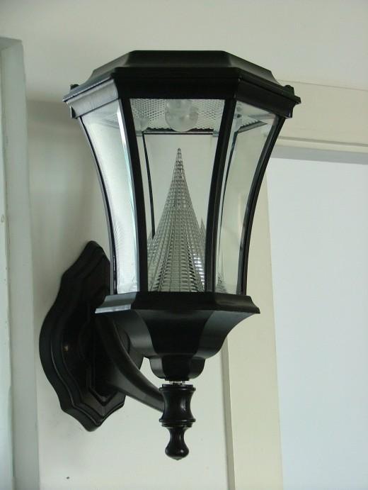 A wall mounted post light
