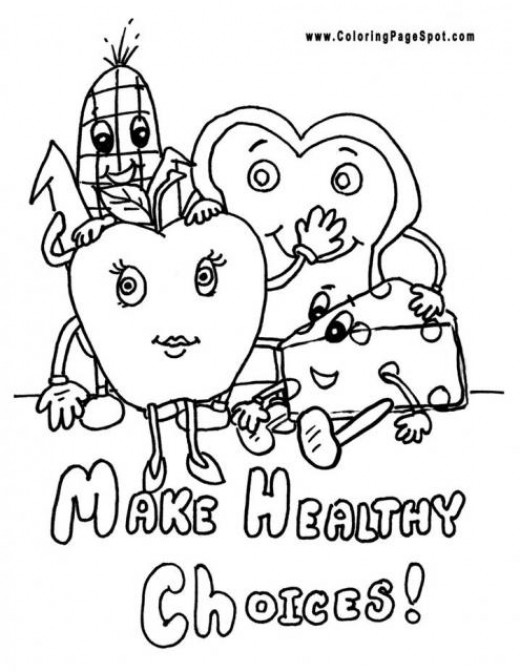 coloring pages on health - photo#12