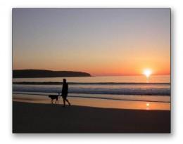 Pambula Beach at sunset.