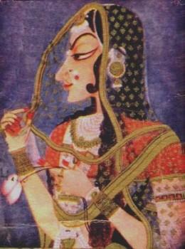 Painting Pure Rajastani Type.