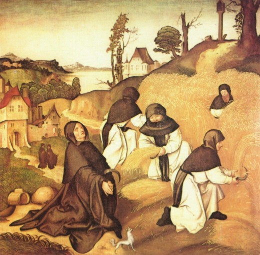 CISTERCIAN MONKS BACK IN THE DAY