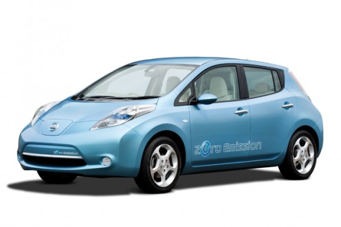 The Nissan Motors' Leaf. Picture from http://www.newsgaze.com/features/nissan-unveils-leaf-zero-emission-electric-car/