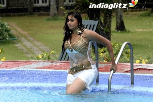 Namitha Shows Her Navel and Big boobs wearing a Shorts pic Gallery Image 2