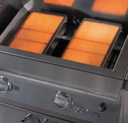 Infrared gas grills will create over a thousand degrees at the cooking surface within a minute of lighting the grill.
