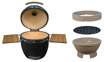 ceramic kamado cookers can be used as a smoker or a grill or a barbeque.