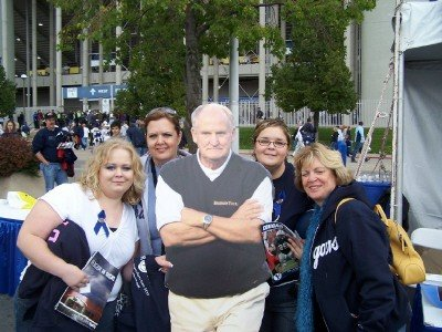 LaVell Edwards at the game.