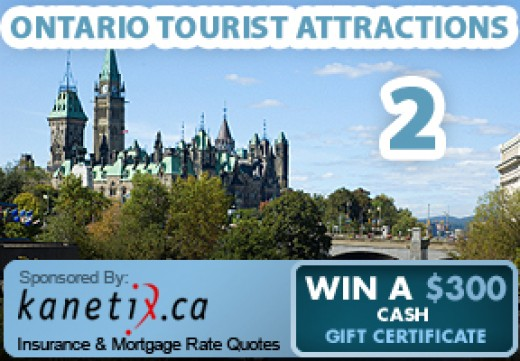 Ontario Tourist Attractions 2 is again sponsored by Kanetix.ca, the best place online to find the lowest car insurance rates.