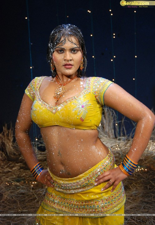 Bold Hot Telugu Film Item Girl Priya Sexy Cleavages Gallery Image 12