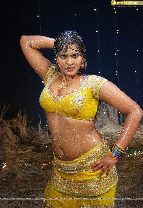 Bold Hot Telugu Film Item Girl Priya Sexy Cleavages Gallery Image 13