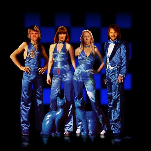 ABBA in cool blue