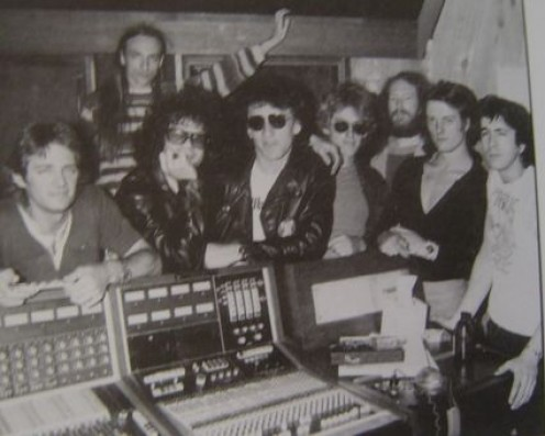 Kooper (third from left) with the Tubes