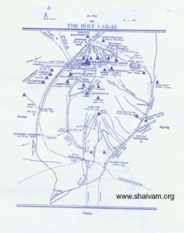 The Map to Kailash Yatra a most holy trip by all Hindus.