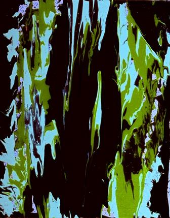 WHERE ALL LIFE FLOWS - fluidism original painting, Robert Kernodle, 2000