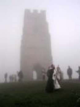 Druid Ritual on the Tor, Winter Solstice.