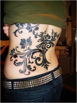 Tribal Tattoo on The Back Girl