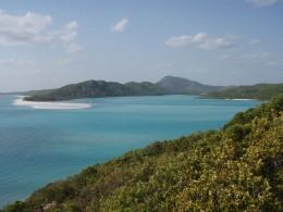 The whitsunday passage with whitsunday Island in the background.