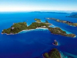 The Island from above. This is the view from your helicopter.