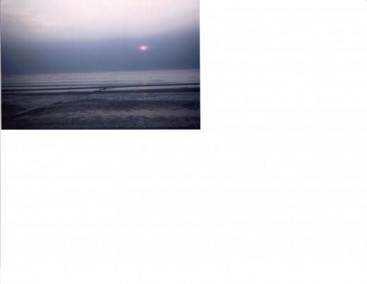 Sundown over Delaware Bay