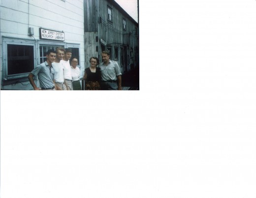Oyster Research Lab Crew, I'm first from left in 1955