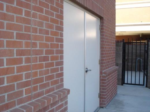 Secure exterior doors