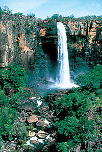 Kakadu waterfall.