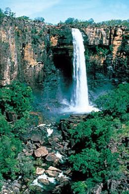 Kakadu waterfall.