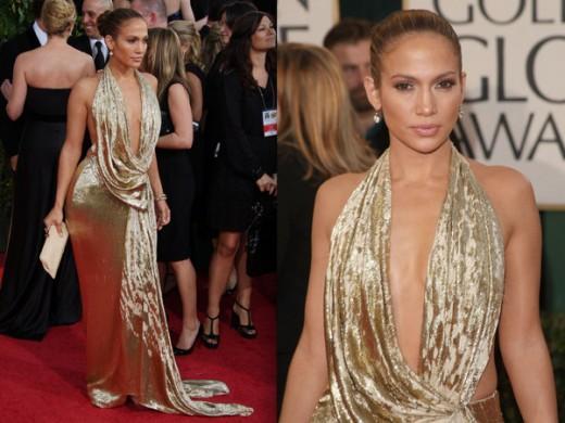 Jennifer Lopez in Gold Marchesa