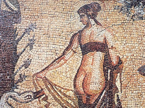 Leda and the Swan Mosaic at Palea Paphos