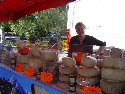 You can buy local produce at the many local markets fairs. Piegut is the biggest. This was taken at Chessenon Autumn fair.