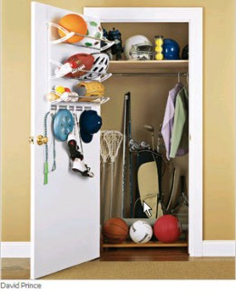 double small closet space by using closet door organizers.