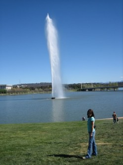The fountain in the Lake.